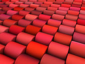 Abstract 3d render multiple pink red cylinder backdrop pattern — Stock Photo