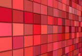 3d render tiled mosaic red pink wall pavement — Stock Photo