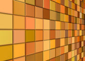 3d render mixed orange yellow tiled wall floor pavement — Stock Photo