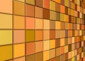 3d визуализация смешанные оранжевый желтый кафельные стены пол тротуар — Стоковое фото