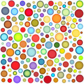 Abstract sphere bubble pattern in multiple color on white — Stock Photo