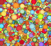 Floating bubble backdrop in multiple color — Stock Photo