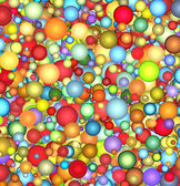 3d glossy floating bubble backdrop in multiple color — Stock Photo