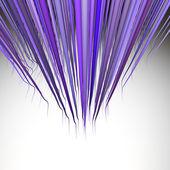 3d render multiple wavy hair lines in multiple purple — Stock Photo