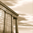 3d antique classical architecture roman monument render — Stock Photo