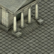 Royalty-Free Stock Photo: Isometric 3d render of a Greek Roman temple