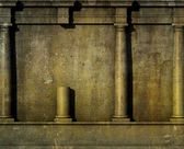 3d antique classic architecture Greek Roman wall render — Stock fotografie