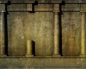 Muro romano greco di antica architettura classica 3d rendering — Foto Stock