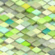 3d green cubes in different shades of green — Stock Photo #8980829