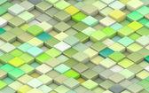 3d gröna kuber i olika nyanser av grönt — Stockfoto