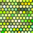 3d render of beveled hexagon in green — Stock Photo