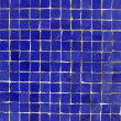 Dark blue mosaic tiles on a wall — Stock Photo