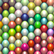 Stock Photo: 3d render easter egg in multiple bright color