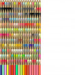 Isometric 3d render of pencil in different color — Stock Photo