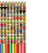 Isometrica 3d rendering della matita di colore diverso — Foto Stock