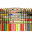 Dimetric 3d render of pencil in different color — Stock Photo
