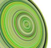 3d render concentric pipes in multiple green colors — Stock Photo