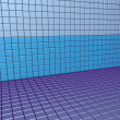 Stock Photo: 3d render blue purple tiled wall floor pavement