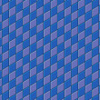 图库照片: 3d render blue purple tiled wall floor pavement