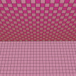 Stock Photo: 3d render pink tiled wall floor pavement