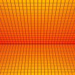 Stock Photo: 3d render glossy red orange yellow tiled wall floor pavement