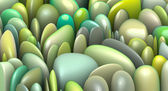 3d render abstract natural pattern in multiple green colors — Stock Photo