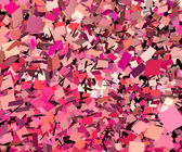 Illustration of explosion in pink red purple fragmented pieces — Stock Photo