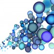 Stock Photo: 3d render abstract blue purple bubble backdrop