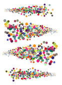 Abstract illustration strings of circles in multiple colors — Stock Photo