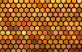 Abstract 3d render hexagon backdrop in orange colors — Stock Photo