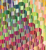 3d abstract hexagonal glass like render in multiple color — Stock Photo