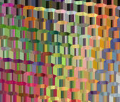 3d abstract hexagonal glass like backdrop render in multiple col — Stock Photo