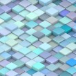 Abstract 3d render backdrop cubes in different shades of blue — Stock Photo