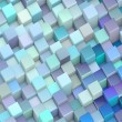 Stock Photo: Abstract 3d render backdrop cubes in different shades of blue