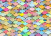 Abstracto 3d render cubos de telón de fondo en color arco iris múltiple — Foto de Stock