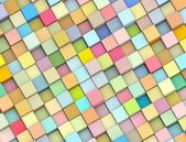 Abstract 3d render backdrop cubes in multiple soft rainbow color — Stock Photo