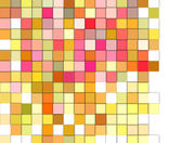 Abstract 3d gradient backdrop cubes in happy fruity colors — Stock Photo