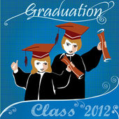 Graduation class2012 invitation — Stock Vector