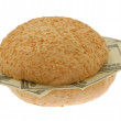 Stock Photo: Dollars sandwich