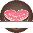 Cake label — Stock Vector