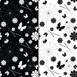 Set of seamless pattern — Vector de stock