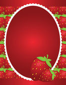 Simple Strawberry Background Design — Stock Vector