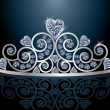 Tiara or diadem with reflection, vector illustration — Stock Vector
