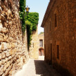 Stone gothic street of Pals, Catalonia, Spain — Stock Photo