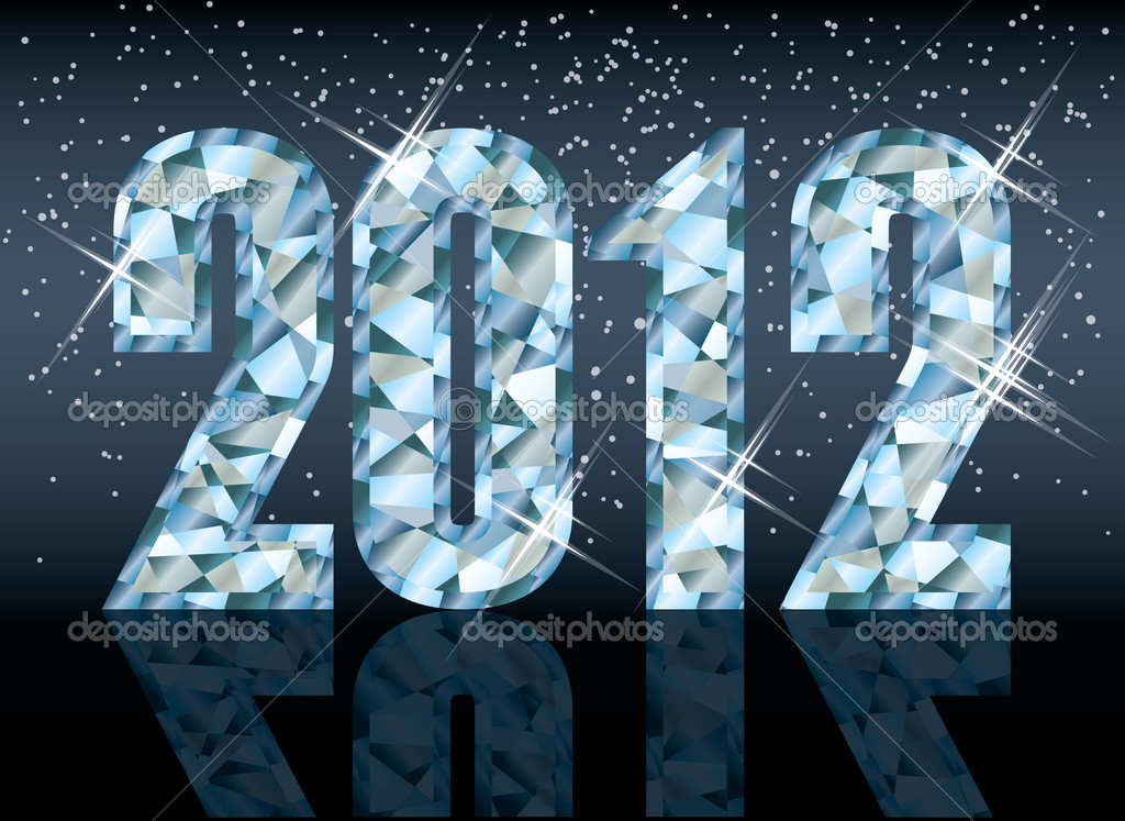 Diamond new 2012 year, vector illustration — Stock Vector #8011069