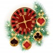 Casino Christmas card, vector — Stock vektor