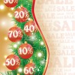 Christmas sale banner, vector illustration — Stock Vector