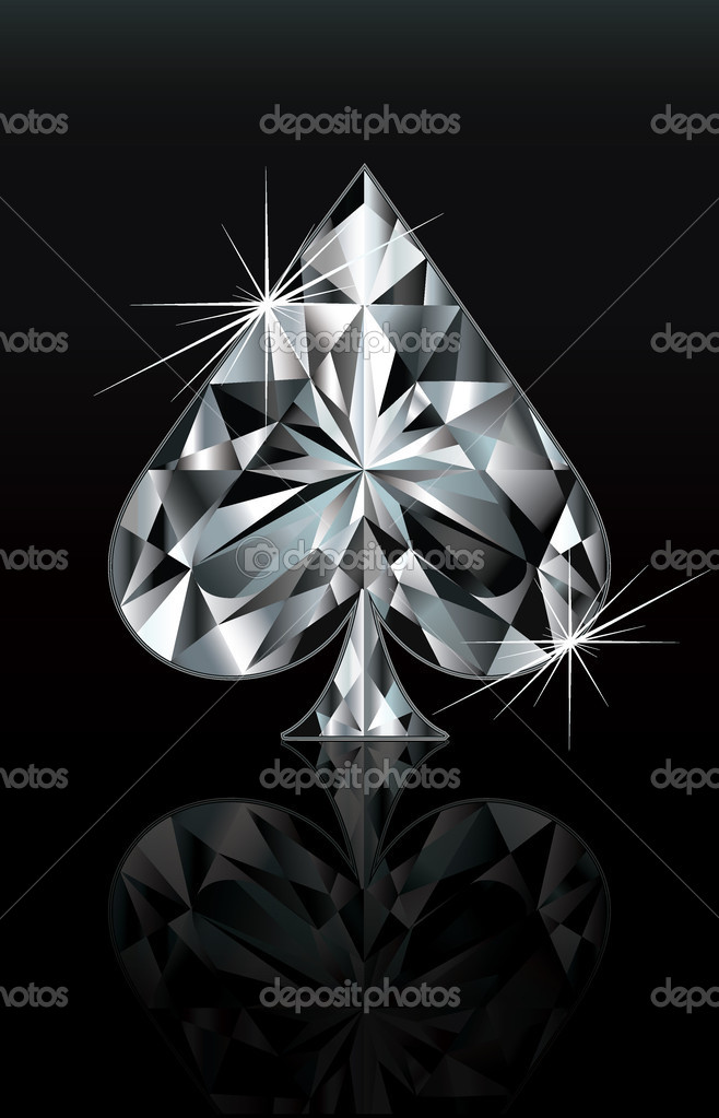 Diamond Poker Card Sign Spade