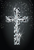 钻石十字架、 矢量 — 图库矢量图片