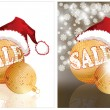 Christmas sale. Two banners. vector illustration — Imagen vectorial
